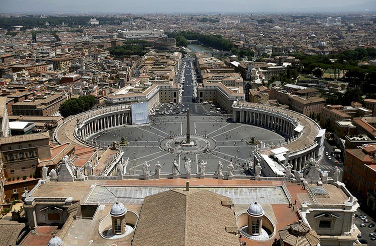 St. Peter's Square in Rome, where Pope Francis will bless as many as 800 Harley-Davidson motorcycles Sunday as part of the company's 110th anniversary
