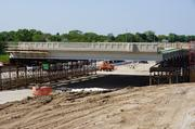 A portion of the bridge was built in place, while the middle section was built nearby.