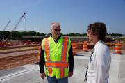 Business Journal reporter Sean Ryan talks with Michael Pyritz of the Wisconsin Department of Transportation.