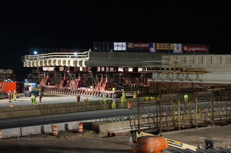 By using the new installation method, construction crews greatly reduced the time the bridge had to be closed.