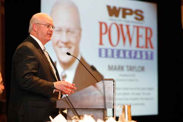 Mark Taylor spoke at The Business Journal's Power Breakfast Friday morning.