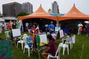 PNC sponsored a children's experience area where kids could try their hand at art.