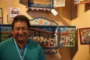 Nicario Jimenez, one of the artists displaying his work