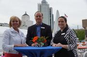 (From right) Molly McDonald,Christopher Goller andLori Craig of PNC