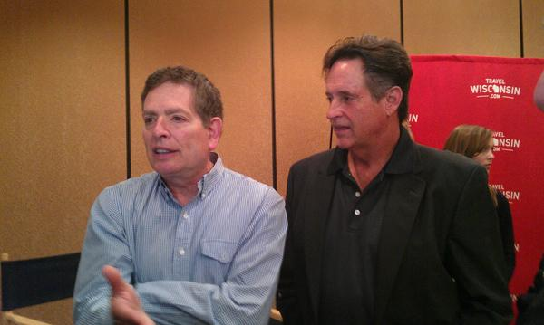 """David Zucker, Robert Hays and the rest of the key team behind """"Airplane!""""will shoot three Wisconsin Department of Tourism ads on Thursday in Los Angeles."""