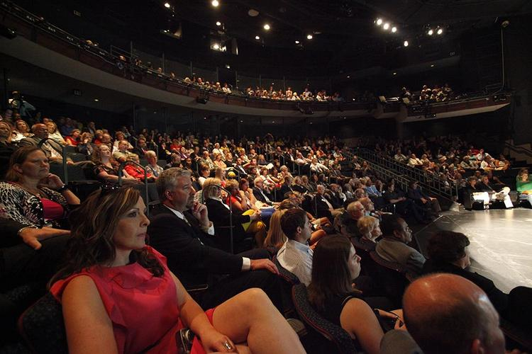 The event was held before a capacity crowd at the Quadracci Powerhouse Theater in the Milwaukee Rep's complex in downtown Milwaukee.