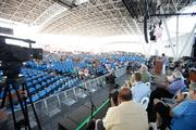 Opening ceremonies were held Wednesday under the roof at the BMO Harris Bank Pavilion.