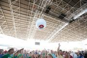 The crowd enjoyed themselves under the roof at the BMO Harris Bank Pavilion