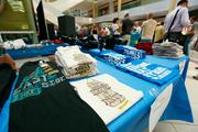 Merchants sold shirts at the Grand Avenue event.