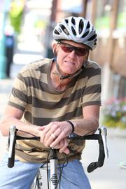 Mainly Editing principal and senior editor Barry Mainwood promotes bike-riding to work.Click here for story.