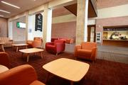"""Inside the building affectionately known on campus as """"The Rita""""Click here for story."""