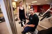 Melissa and Brian Gizelar are a couple who work out together at Time Warner Cable's on-site gym. Click here for story.