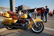 A Green Bay Packers-themed bike at the event