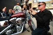 Wes Debow of Napa Valley California checks out one of the new 2013models.