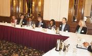 Thirteen young professionals attended the roundtable at The Pfister.