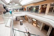 The renovation has updated the look of the mall's interior.