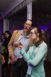 Mark Borchardt, a filmmaker, with Dawn Borchardt