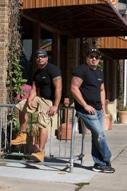 Milwaukee Pizza Co. owners Erik Burgos (left) and Nick Smith are building a customer base for their product among area taverns.Click here for story.