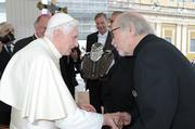 19. Oct. 4 -- Harley-Davidson gas tanks receive papal blessing in Vatican City