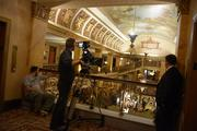 The filming follows an extensive restoration of The Pfister's lobby.