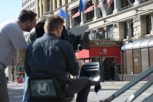A pair of video crews popped up on the streets of downtown Milwaukee this week.