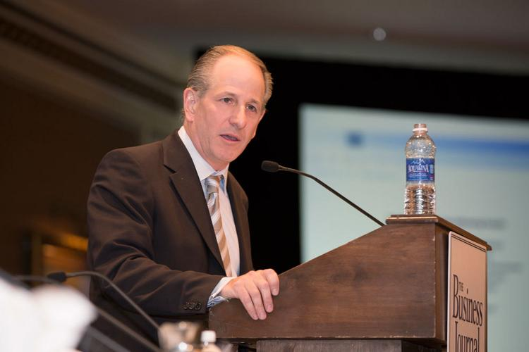 Greg Marcus speaks at The Business Journal's Business of Growing Milwaukee event Sept. 28.