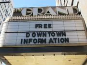 A former movie theater has been converted to a downtown information center.