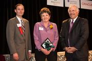 (Center) Leslie Fillingham of the Milwaukee Repertory Theater, received a career achievement award.