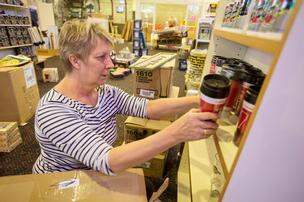 Jeanne Morgese is an employee at Scott's Brewery Collectibles at Southridge Mall.Click here for story.