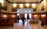 Contractors are still finishing up renovation work at Turner Hall.Click here for story.