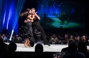 """Ashly DelGrosso-Costa and Damian Whitewood, performers from """"Dancing with the Stars,"""" on stage at the event"""