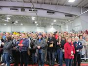 The venue was packed for Romney's appearance, and many people were turned away because the pavilion ran out of space.