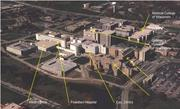 The Froedtert campus as it looked in 1995 before the Milwaukee County hospital was demolished