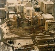 Demolition of the old Milwaukee County hospital complex took more than one year to complete and provided new land for Froedtert's expansion.