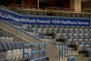 There are several new sponsors with signage in the main seating area of the building.