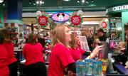 The Disney Store at Southridge experienced a rush close to 10 a.m. Friday as a 20 percent sale ended.