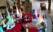 Santa Claus was a big draw at Southridge Mall.