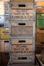 Stroll the aisles at Antiques on Second for old milk crates ...Click here for story.