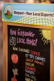 Local food has become more of a focus in recent years at Outpost.Click here for story.