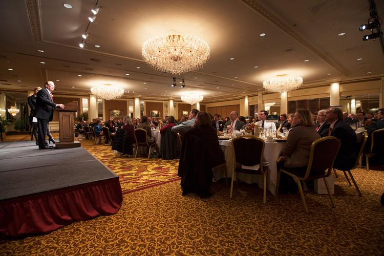 About 400 Milwaukee-area business executives attended the event.