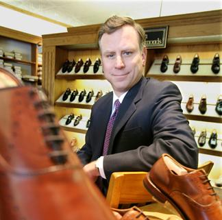 """Paul Grangaard...""""We are a seven-day-a-week shoe company instead of just a coat-and-tie shoe company."""""""