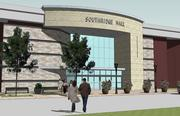 Rendering of a new mall entrance
