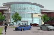 Rendering of the new food court entrance