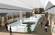 Rendering of the mall interior