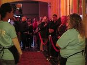 """Fans line up for the opening night film """"Starbuck"""" at the Oriental Theatre."""