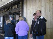 Steve and Barb Bulik from Caledonia wait to see the Allen-Bradley Clock Tower.