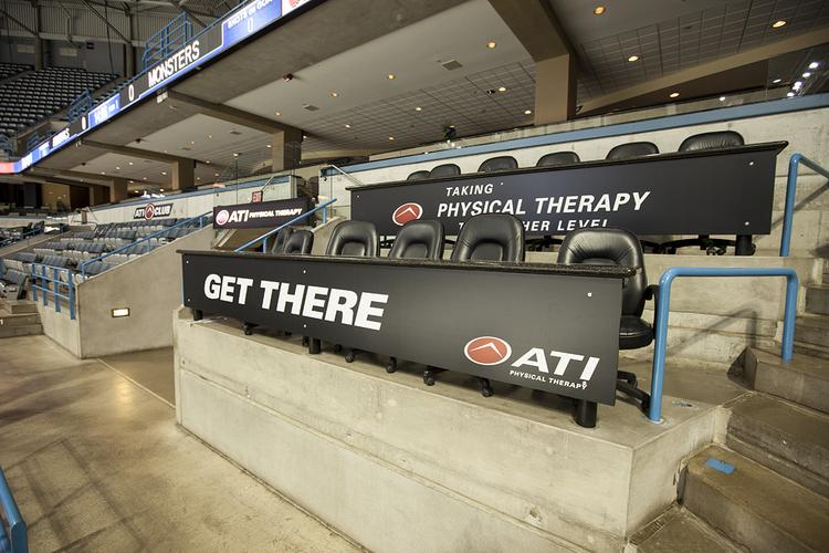 ATI Physical Therapy's expanded sponsorship of the Milwaukee Bucks at the BMO Harris Bradley Center includes courtside signage and naming rights to the ATI Club.