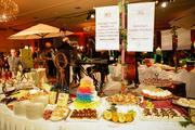 The food samplings included main dishes and desserts.