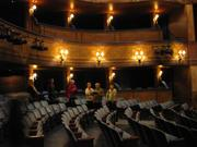 Guests check out the inside of the Broadway Theatre.
