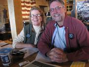 Bob and Gerry McDonald, volunteers for Doors Open Milwaukee, at the Iron Horse Hotel.